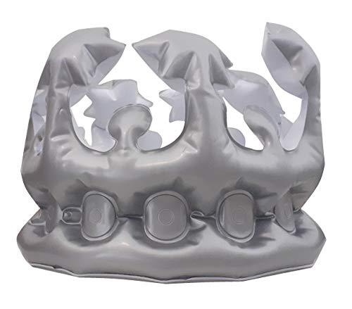 Sonnenscheinschuhe® Aufblasbare Krone [Silber] Karneval Fasching König Königin Verkleidung