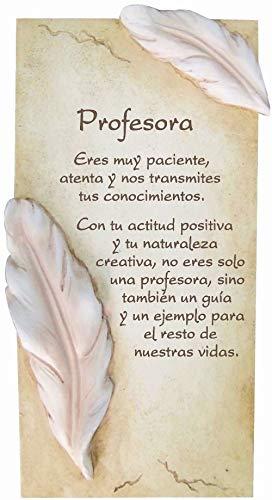 Framan PERGAMINO DE Piedra LABRADA con Textos para Ocasiones Especiales, Original Y ECONÓMICO. Especial Profesora