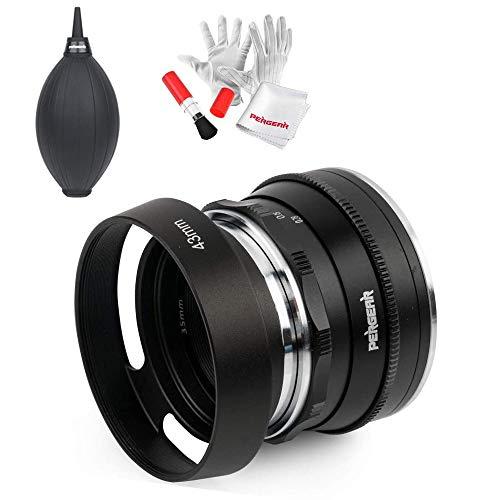 Pergear 35mm F1.6 Manuelles Fokus-Prime-Festobjektiv für Sony E-Mount-Kameras NEX-5 NEX-C3 NEX-5N NEX-7 NEX-F3 NEX-5R NEX-3N NEX-5T A3000 A5000 A6000 mit Luftgebläse-Reinigungskit