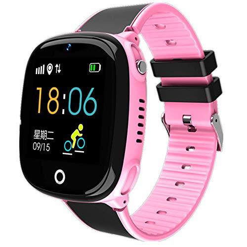ZHENAO Smart Children Watch, Hw11 Smart Watch Kids Gps Gps Pedómetro Bluetooth Posicionamiento Ip67 Reloj Impermeable para Niños para Niños Smart Smart Wristband Ios Regalos de vaca