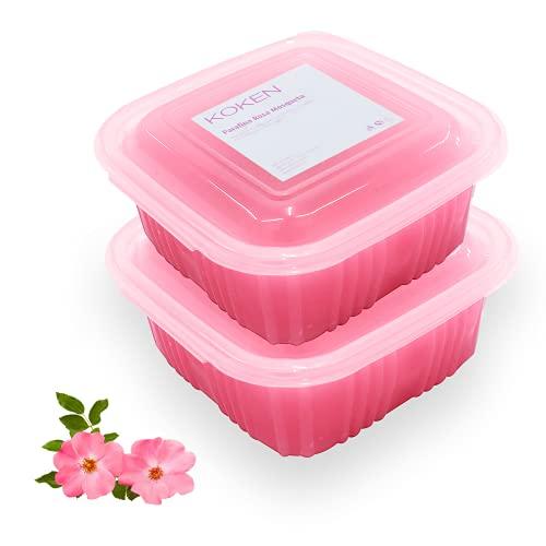 KOKEN - Parafina de ROSA MOSQUETA 1000 ml - 700 gr. Parafina para tratamiento hidratante de manos y pies.
