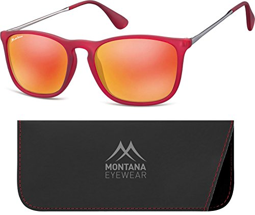 Montana MS34 gafas de sol, Multicoloured (Red/Revo Red), 1 Unisex Adulto