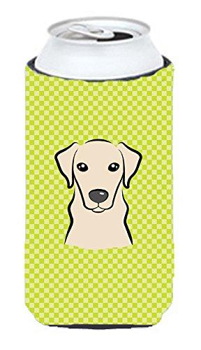 Checkerboard Vert citron Jaune Labrador Tall Boy Koozie Hugger Bb1284tbc