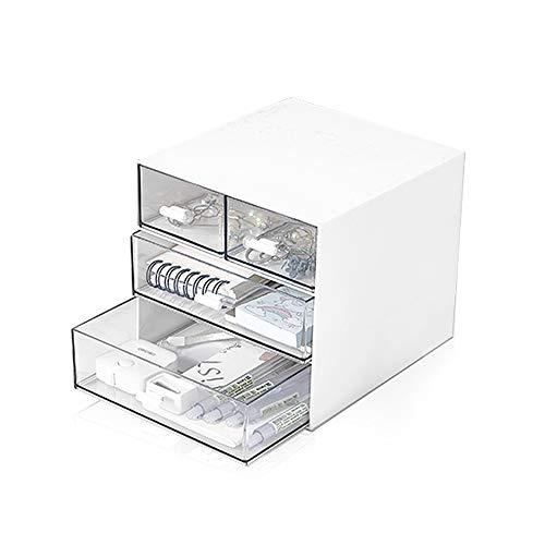収納ケース 引き出し 収納 小物 卓上 透明 収納ボックス (4引出し)