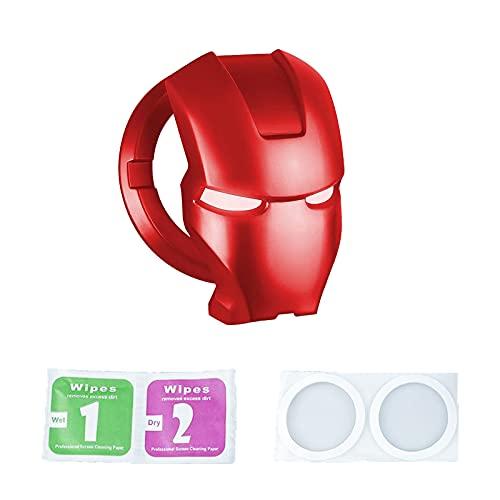 Cubierta del Interruptor de Encendido del Botón,Cubierta del Botón de Arranque,Cubierta del Botón de Arranque del Automóvil,Decoración del Coche para un Toque Accidental. (Rojo)