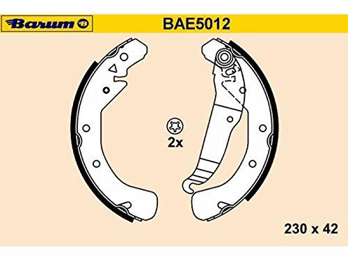 BARUM bAE5012 jeu de mâchoires de frein
