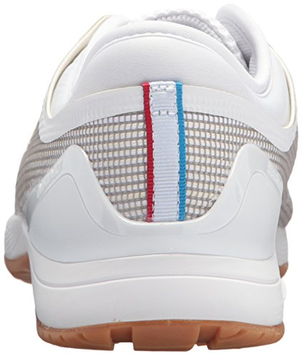 Reebok Women's Crossfit Nano 8.0 Flexweave Workout Joggers, White/Classic White/Excellent Red/Blue/Gum, 7 M US
