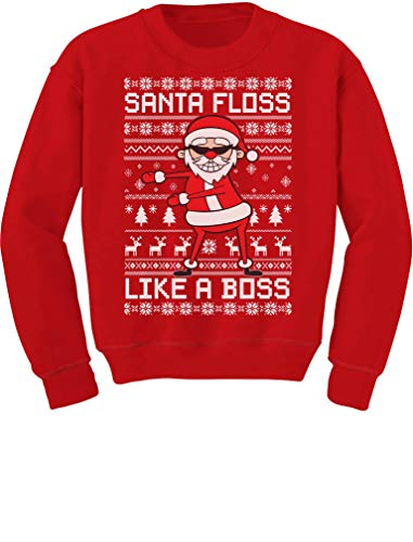 Fortnite Gift Ideas - Santa Floss Like a Boss Ugly Christmas Sweater Youth