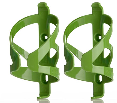 50 Strong Bicycle Water Bottle Holder 2 Pack - Easy to Install Bike Cage - Made in USA (Lime Green)
