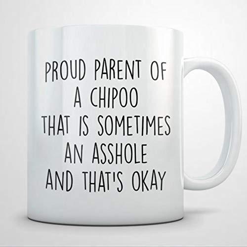 Chipoo Geschenk für Männer Chipo Papa Chipo Geschenk Chipo Tasse Chipo Dad Tasse Chipo Liebhaber Chipoo Chipoo Hund Pudel Chihuahua Kaffeetasse 325 ml Keramik Kaffee oder Tee Tasse Tasse Becher
