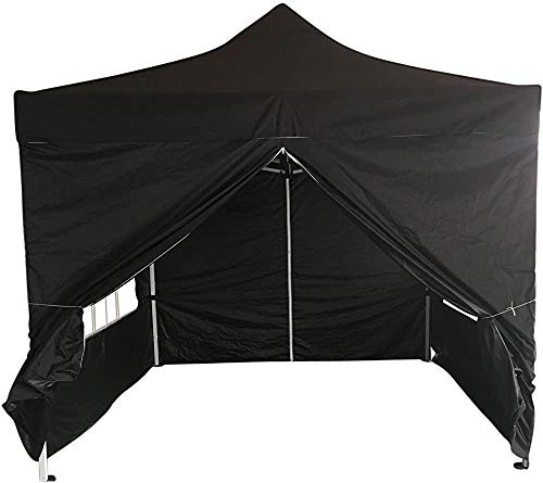 Garden Pyramid roof Waterproof Gazebo Tent with Windproof and sidewall,Black