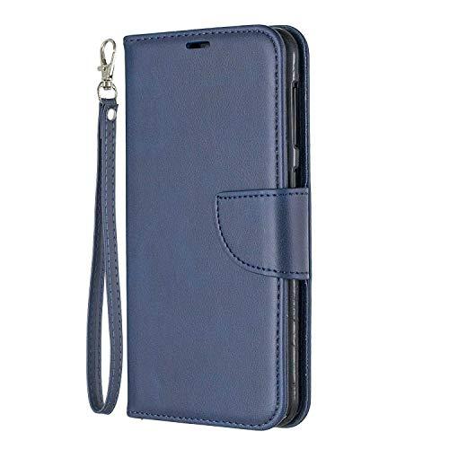 Bear Village® Hülle für Samsung Galaxy A10, PU Premium Leder Flip Handyhülle, Schutzhülle mit Ständer Funktion und Card Holder, Blau