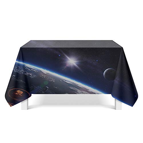 DREAMING-Starry Fantasy Art Tischdecke Home Tischdecke Tv-Schrank Couchtisch Stoff Runde Tisch Tischset 110cm * 170cm