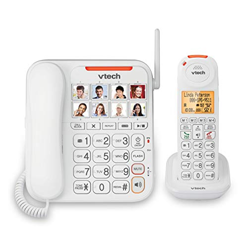 VTech SN5147 Dect_6.0 1-Handset Landline Telephone, White