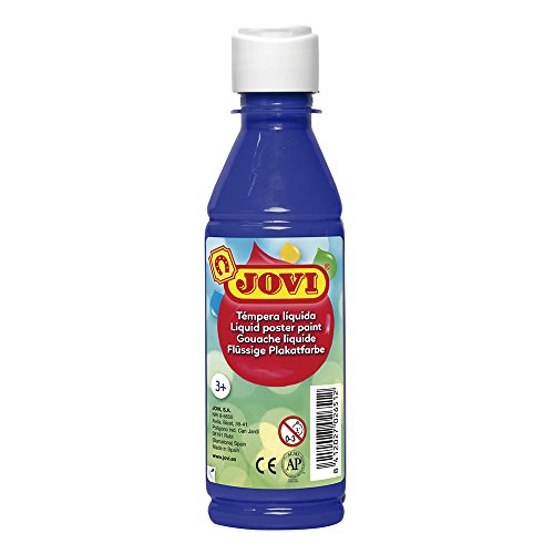 Jovi- Tempera liquida, Color Azul Oscuro, 250 ml (50224)