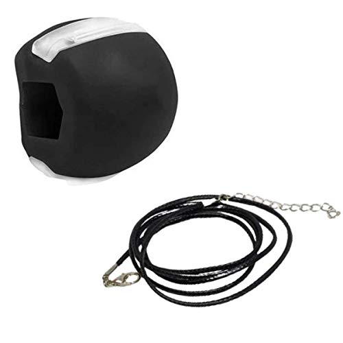 Neck and Facial Toner Jawline Exercise Black Silicone Ball, Slim and Tone Your Face, Regain Youthful Glow, Melt Away Stress