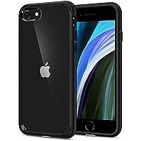 Spigen Funda Ultra Hybrid Compatible con Apple iPhone SE 2020/ iPhone 8/iPhone 7, Protección híbrida de la caída - Negro
