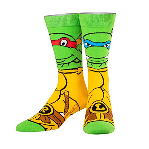ODD SOX Unisex Crew-Socken - Retro Schildkröten (Teenage Mutant Ninja Turtles)
