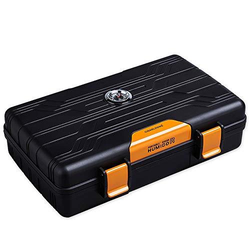 Xiao Mi Guo Ji humidificador de cigarros portátil, gabinete hidratante de cigarros de viaje LDPE respetuoso con el medio ambiente con medidor de humedad Dispositivo humectante Caja de almacenamiento d