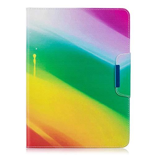 XTstore Samsung Galaxy Tab 4 101 Hulle Case Leder Tasche Flip Cover Schutzhulle Schale Etui mit Standfunktion fur Samsung Galaxy Tab 4 101 Zoll Tablet SM T530T535 Regenbogen Auto SchlafWach