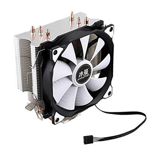 NINGXUE-MAOY CPU Cool Master 4 Tubo De Cobre Puro Torre De Congelación Sistema De Enfriamiento CPU Fan De Refrigeración Y Ventilador PWM (Blade Color : One Fan)