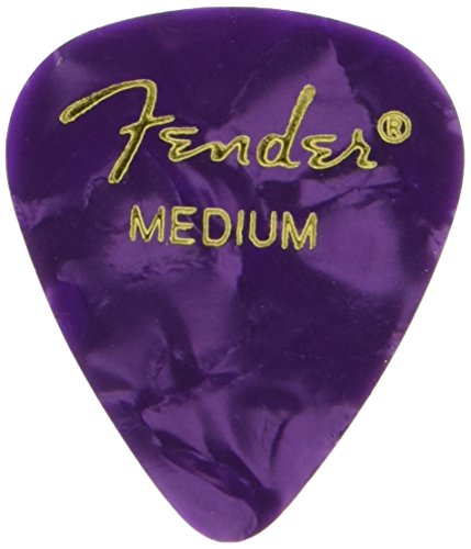 Fender ピック 351 SHAPE PREMIUM PICKS MEDIUM, PURPLE MOTO(12PACK)