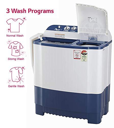 LG 6.5 Kg 4 Star Semi-Automatic Top Loading Washing Machine (P6510NBAY, Dark Blue, Rat Away Technology) 5