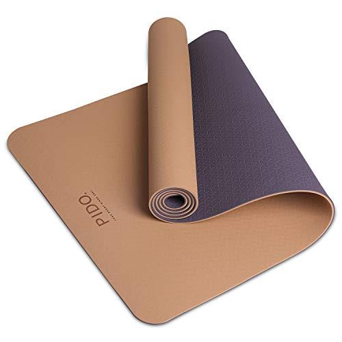 PIDO Yogamatte, leichte Reise-Yogamatte, rutschfeste Fitnessmatte, Pilates- und Gymnastik-Stretching-Matte, 183 x 61 x 0,6 cm