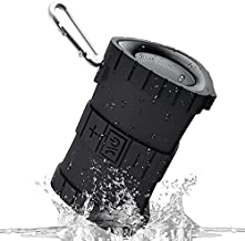 EBODA IPX7 Waterproof Shower Bluetooth Speaker, Portable Floating Outdoor Speakers with Crisp Sound, 2000mAh, 24H Playtime for Kayaking, River, Pool, Beach, Hiking-Black