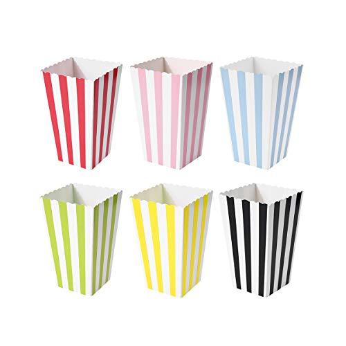 60 Pcs Colorful Mini Stripes Popcorn Boxes Candy Boxes