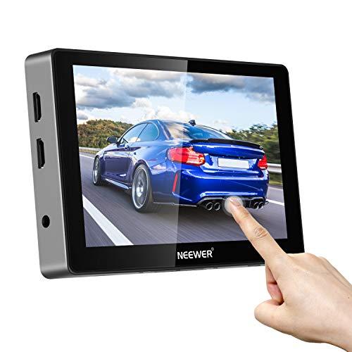 "Neewer 7"" Monitor Touch Screen FW700 1000nit 1920x1200 4K HDMI In/Output con Mini Attacco Coldshoe, Waveform, Vector Scope, 3D-LUT, Adatto a DSLR Canon Sony Nikon Panasonic Fujifilm"