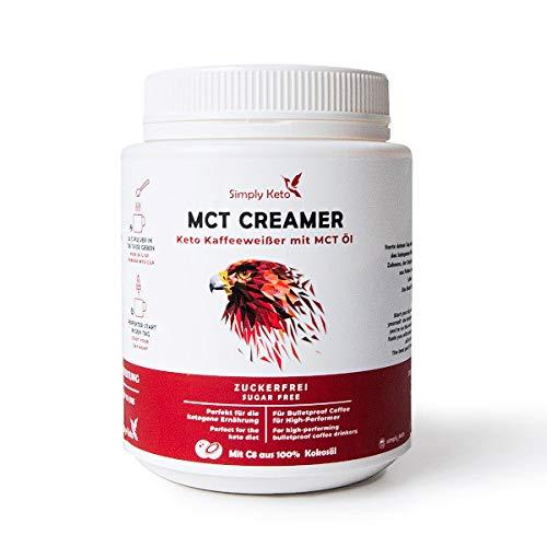 Simply Keto | MCT Creamer | große 450g Vorrats-Dose | Cremiger Bulletproof Coffee komplett ohne Kohlenhydrate & ohne Mixer zubereiten | mit Butter aus Weidehaltung
