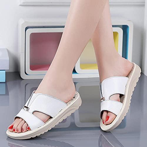 Kirin-1 Zapatillas De Casa para Mujer Verano,Zapatillas De Novia,Piso con Sandalias, Zapatos...