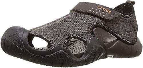Crocs Swiftwater Sandal Men, Zapatos de Agua para Hombre, Marrón (Espresso/Espresso), 39/40 EU