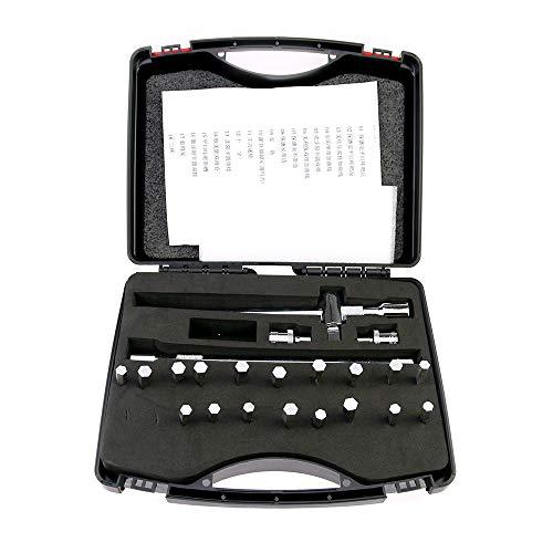 TPM Go Professional Locksmith Tools, 18 piezas suave y fuerte de apertura rápida herramienta decodificador de bloqueo