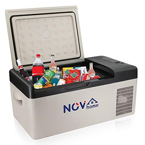 Novhome - Mini frigorifero e congelatore per auto, 20 l, compressore portatile da 12 V, mini frigorifero elettrico, per viaggi all'aperto, campeggio e uso domestico