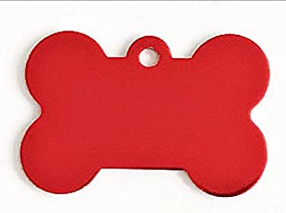 Polykor Useful Bone-Shaped Dog Tag Leash Pendant Tag Collar Accessories(Red