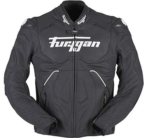 Furygan Raptor Evo Motorrad Lederjacke Schwarz/Weiß M
