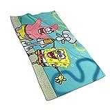 Aoyutiy Handtücher - Spongebob Schwammkopf mit Freunden Weiches und saugfähiges Luxushandtuch 27,5 'x 17,5'