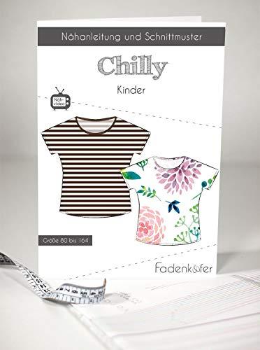 Schnittmuster Fadenkäfer Chilly - Kinder Shirt mit überschnittenen Schultern in den Größen 80-164 Papierschnittmuster