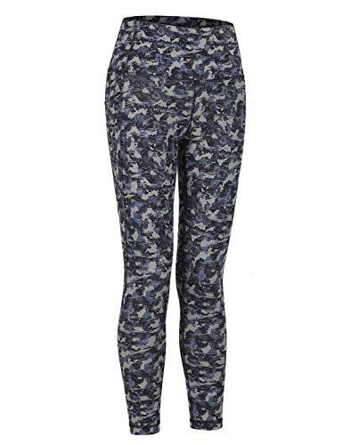 CRZ YOGA Mujer Pantalones de Entrenamiento de Cintura Alta Mallas de Yoga con Bolsillos - 58cm Camuflaje Multi 17 42