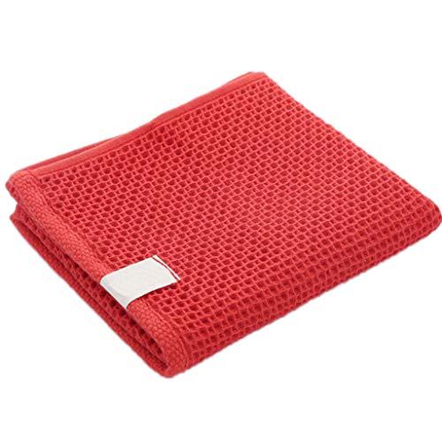 Ixkbiced Artículo Absorbente Suave de la Materia Textil casera de Las Toallas de Cara de la Galleta del algodón Suave de la Malla del Panal