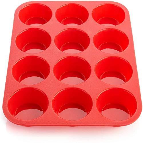 Ecoki Muffinform aus Silikon, Backform für 12 Muffins - LFGB Zertifiziert BPA-frei Muffinblech für Cupcakes, Pudding, Kuchen, Brownies - Antihaft & Leicht zu Reinigen 丨2 Jahren GARANTIE …