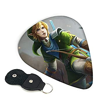 Anime Game Legend of Zelda Guitar Picks 6 Pack For Electric Guitar Acoustic Guitar Mandolin And Bass | 3 Thicknesses Environmental ABS Personalized Design Guitar Picks