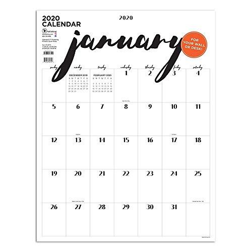 2020 Handwritten Script Oversized Art Poster Calendar