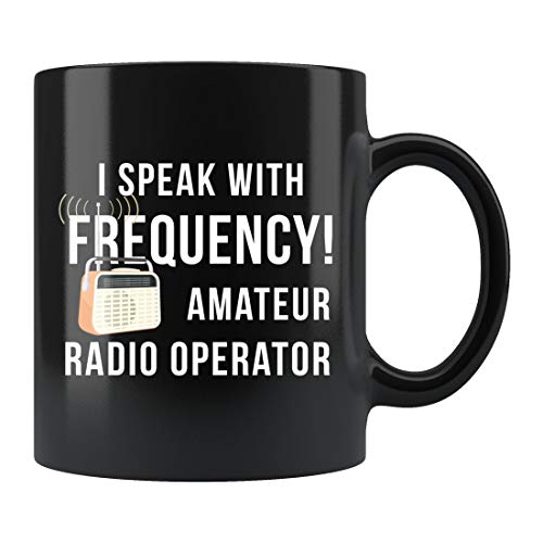 DKISEE Taza de radio, regalo para amantes de la radio, taza de radio de jamón, regalo de operador de radio, taza de radio de operador de radio, taza de radio Amateur #d435
