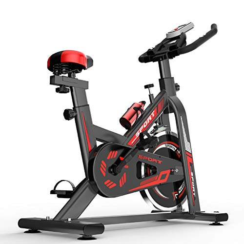 Indoor Cycling Bike Stationair, Silent hometrainer, met LCD-scherm, verstelbare zadel en stuur, Aerobic Training Fitness Cardio Bike, Home Cardio Workout Training