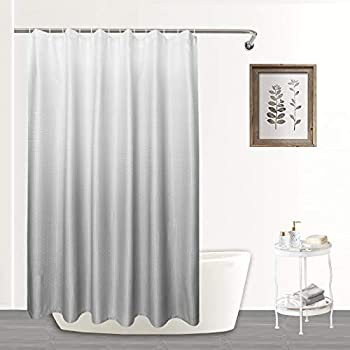 Mejoroom Luxury Waffle Shower Curtain with Gradient Grey Diamond Pattern Machine Washable Waterproof Decorative Bathroom -72  x 72