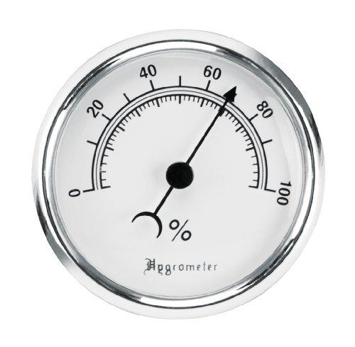 Lockdown Vault Hygrometer, Silber, 11,4 x 3,2 x 18,2 cm