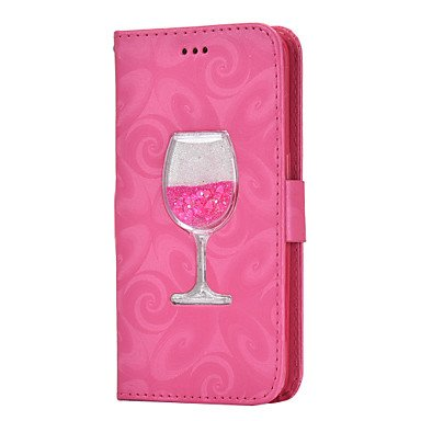 HL CASES/COVERS Belle Casse, custodie, Custodia in Pelle PU per Samsung Galaxy Case Cover per Samsung Galaxy (Colore : Rosa Vivo, Modello Compatibile : Galaxy S5)